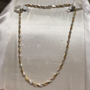 "Jewelry - 18"" twisted two tone rope chain"